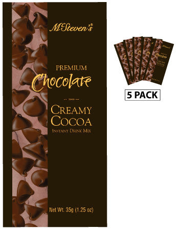 Packets All Year Cocoa - McSteven's Creamy Premium Chocolate - 1.25 oz packets (5)