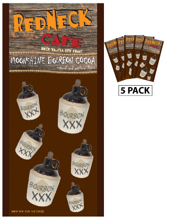 McSteven's Redneck Cafe Moonshine Bourbon Cocoa (Five 1.25oz Packets)