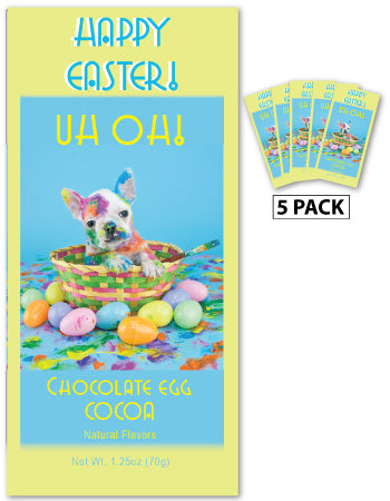 Uh Oh! Easter Puppy Chocolate Egg Cocoa (Five 1.25oz Packets)