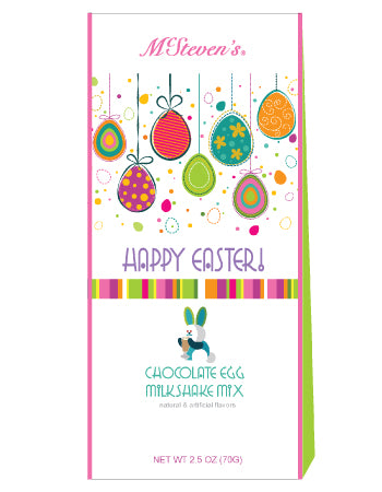 Triangle Gift Box Milk Shake Mix - McSteven's Easter Eggstra Special Chocolate - 2.5 oz