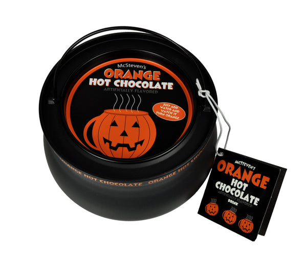 Cauldron Metal Tin Colorful Hot Chocolate - McSteven's Colorful Orange Hot Chocolate - 10 oz