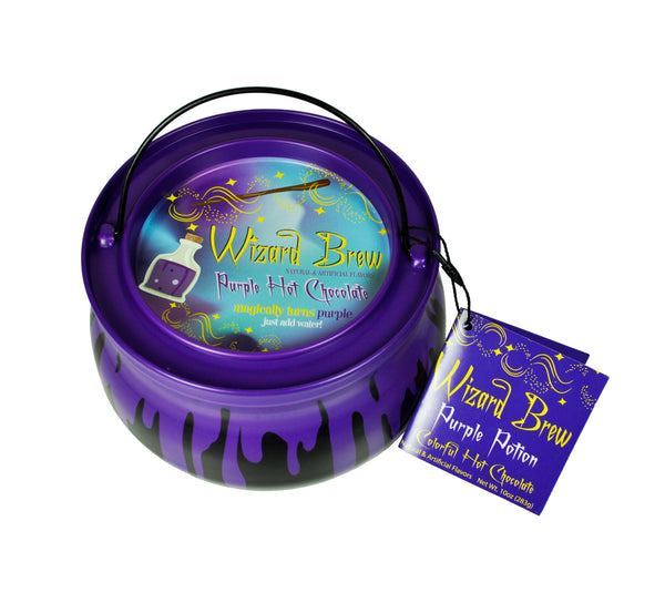 Cauldron Metal Tin Colorful Hot Chocolate - McSteven's Wizard Brew Colorful Purple Hot Chocolate - 10 oz