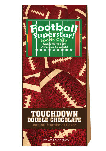 McSteven's Football Double Chocolate Cocoa (2.5oz Tent Box) (CLOSEOUT - BEST BY JAN 2021)