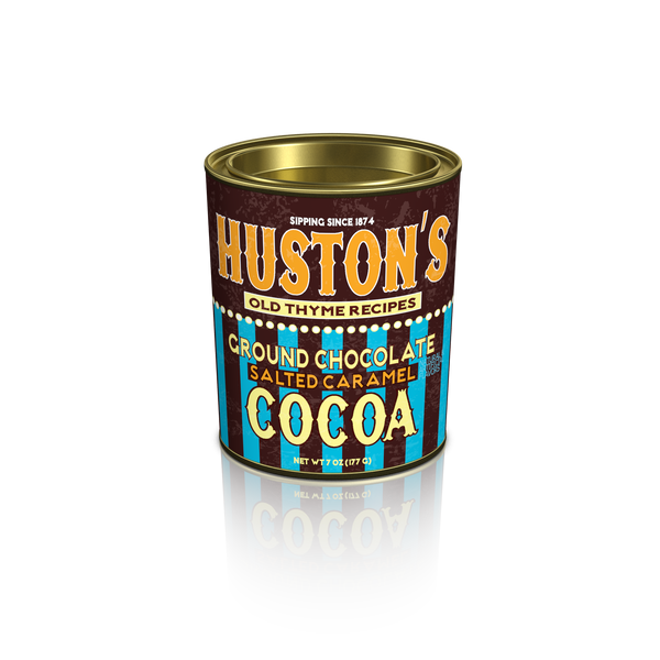 Huston's Old Thyme Recipes Salted Caramel Cocoa (6.25oz Oval Tin) (CLOSEOUT - BEST BY FEB 2021)