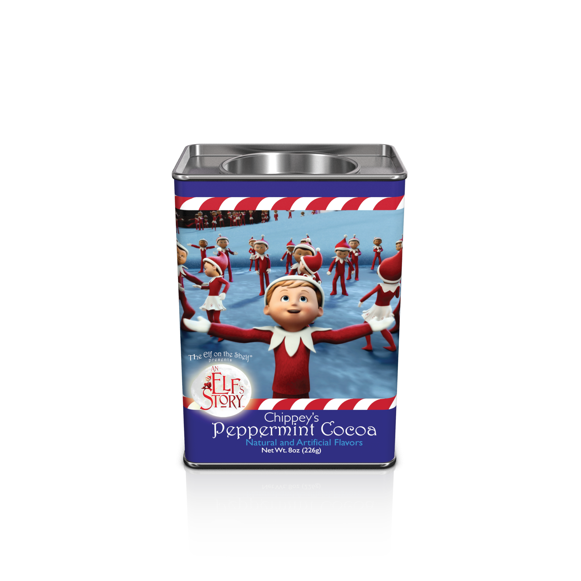 Elf On The Shelf® Chippey's Peppermint Cocoa (8oz Rectangle Tin) (CLOSEOUT - BEST BY JULY 2020)