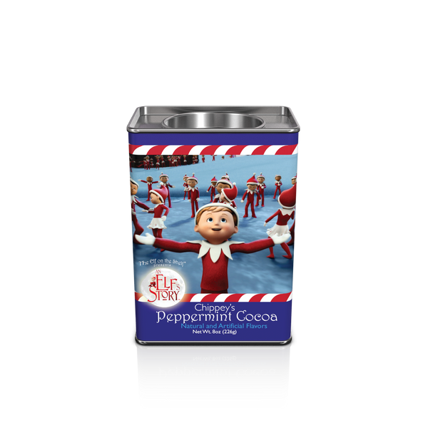 Rectangular Tin Round Plug Cocoa - The Elf On The Shelf® Chippey's Peppermint - 8 oz (CLOSEOUT - BEST BY JULY 2020)