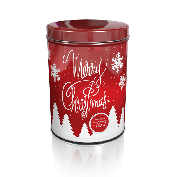Large Round Tin Drink Cocoa - McSteven's® Warm Wishes Triple Chocolate Cocoa - 16oz