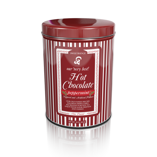 "Sweetridge ""Our Very Best!"" Peppermint Cocoa (16oz Round Tin) (CLOSEOUT - BEST BY JAN 2021)"