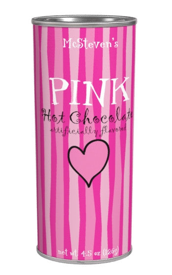 Tall Thin Oval Tin Drink Colorful Hot Chocolate - McStevens®Pink Hot Chocolate Colorful Pink White Chocolate - 4.5 oz