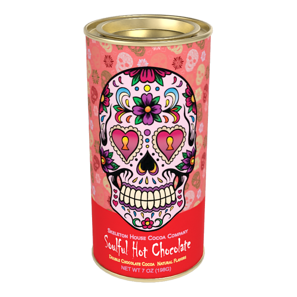 "McSteven's Day of The Dead ""Soulful"" Chocolate Cocoa (7oz Round Tin)"