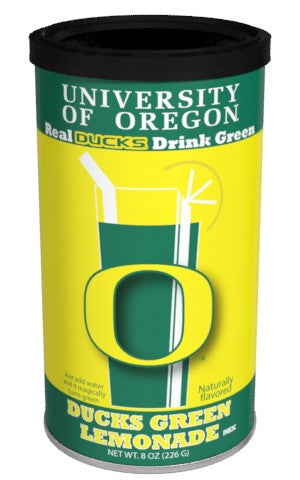 College Colors Lemonade 8 oz. round - University of Oregon Colorful Green Lemonade