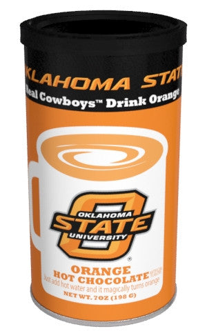 College Colors Hot Chocolate 7 oz. round - Oklahoma State University Colorful Orange Hot Chocolate
