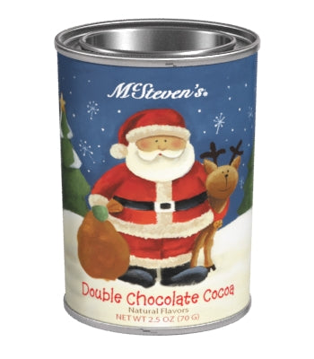 Small Oval Tin Drink Cocoa - McSteven's® Country Christmas Santa Double Chocolate - 2.5 oz