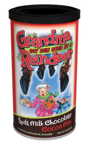 "Round Canister Cocoa - ""Grandma Got Run Over By A Reindeer"" Chocolate - 7 oz"