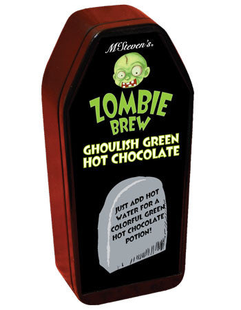 Coffin Tin Colorful Hot Chocolate - McSteven's Zombie Brew Ghoulish Green Hot Chocolate - 3 oz