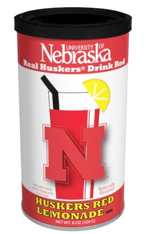 College Colors Lemonade 8 oz. round - University of Nebraska Colorful Red Lemonade