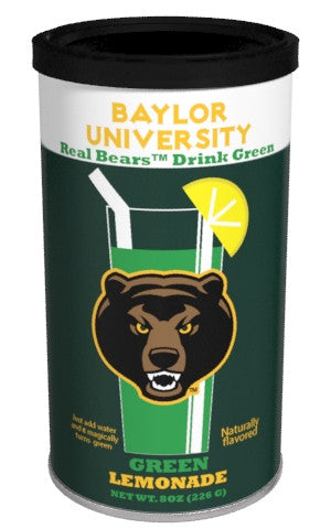 College Colors Lemonade 8 oz. round - Baylor University Colorful Green Lemonade