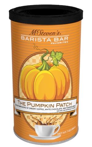 Round Canister Cappuccino - McSteven's Barista Bar Favorites Pumpkin Patch White Chocolate Cappuccino - 7 oz