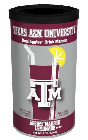 College Colors Lemonade 8 oz. round - Texas A&M University Colorful Maroon Lemonade