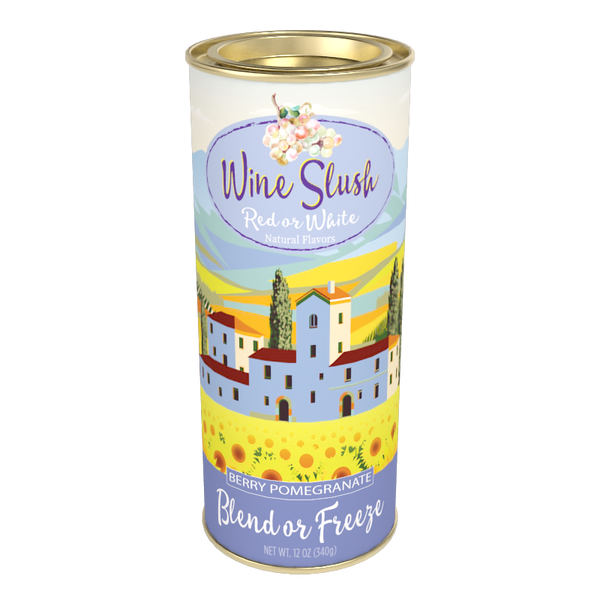 McSteven's Red or White Wine Slush - Berry Pomegranate (12oz Round Tin)