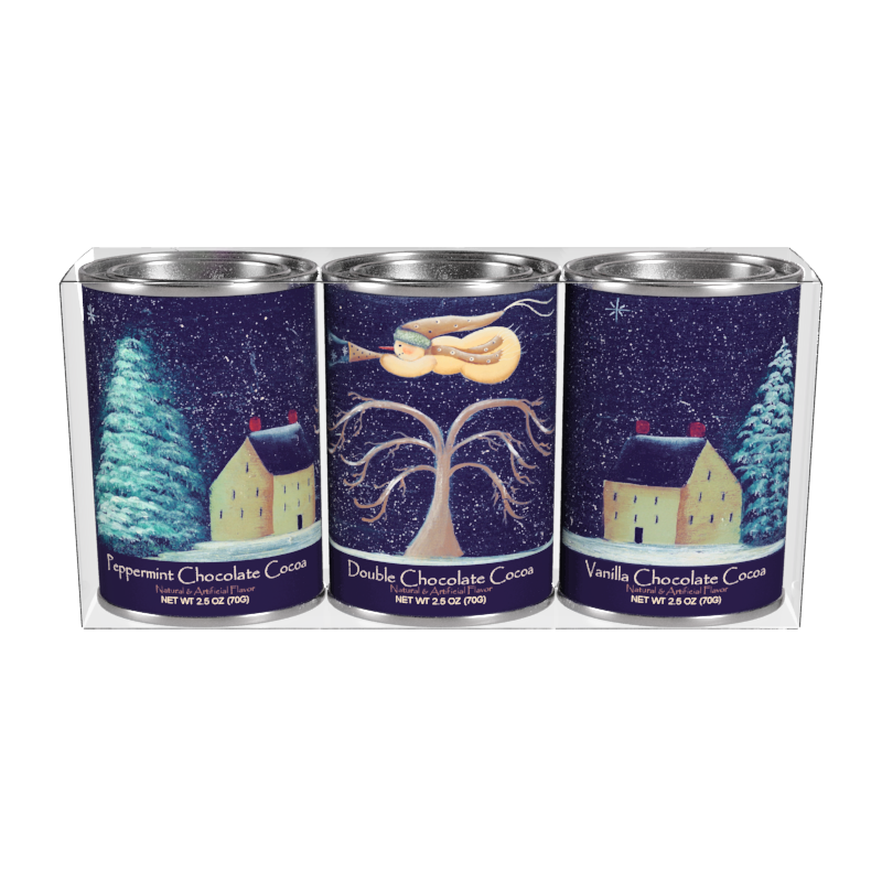 Flying Snowman Cocoa Gift Set (Three 2.5oz Tins)