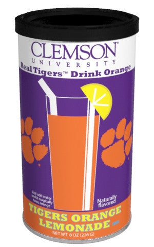 College Colors Lemonade 8 oz. round - Clemson University Colorful Orange Lemonade