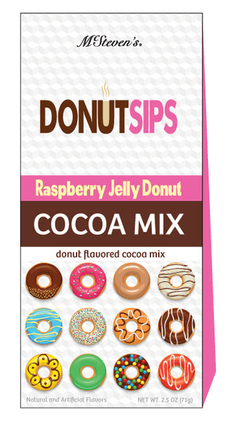 Triangle Gift Box Cocoa - Donut Sips Raspberry Jelly Cocoa - 2.5 oz