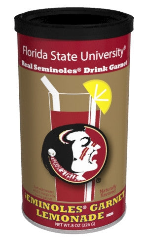 College Colors Lemonade 8 oz. round - Florida State University Colorful Garnet Lemonade