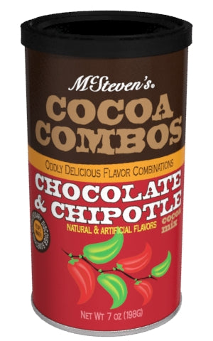 McSteven's Cocoa Combos Cocoa Mix 7 oz Round - Chocolate & Chipotle (CLOSEOUT - BEST BY FEB 2020)