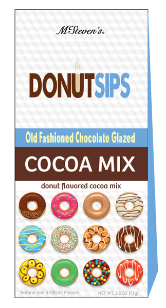 Triangle Gift Box Cocoa - Donut Sips Old Fashion Chocolate Cocoa - 2.5 oz
