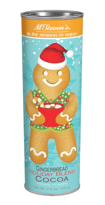 McSteven's Holiday Cheer Gingerbread Cocoa (5.5oz Oval Tin) (CLOSEOUT - BEST BY FEB 2021)
