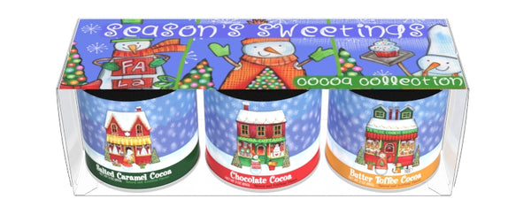 Gift Set Round Canisters Cocoa - McSteven's Season's Sweetings Art - 3-3 oz round canisters