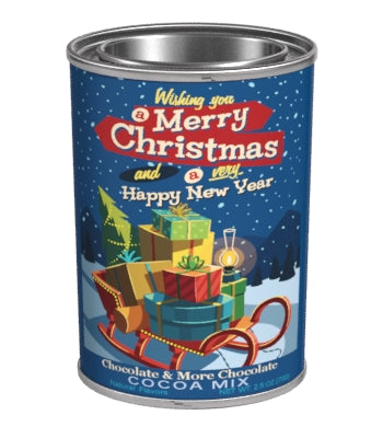 Small Oval Tin Drink Cocoa - McSteven's® Wishing you a Merry Christmas Chocolate- 2.5 oz