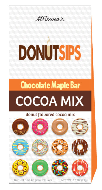 McSteven's Donut Sips Chocolate Maple Cocoa (2.5oz Tent Box)