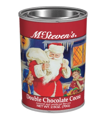 Small Oval Tin Drink Cocoa - McStevens® Original Christmas Double Chocolate - 2.5 oz