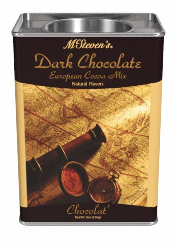 McSteven's European Dark Chocolate Cocoa (8oz Rectangle Tin)