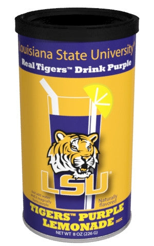 College Colors Lemonade 8 oz. round - Louisiana State University Colorful Purple Lemonade