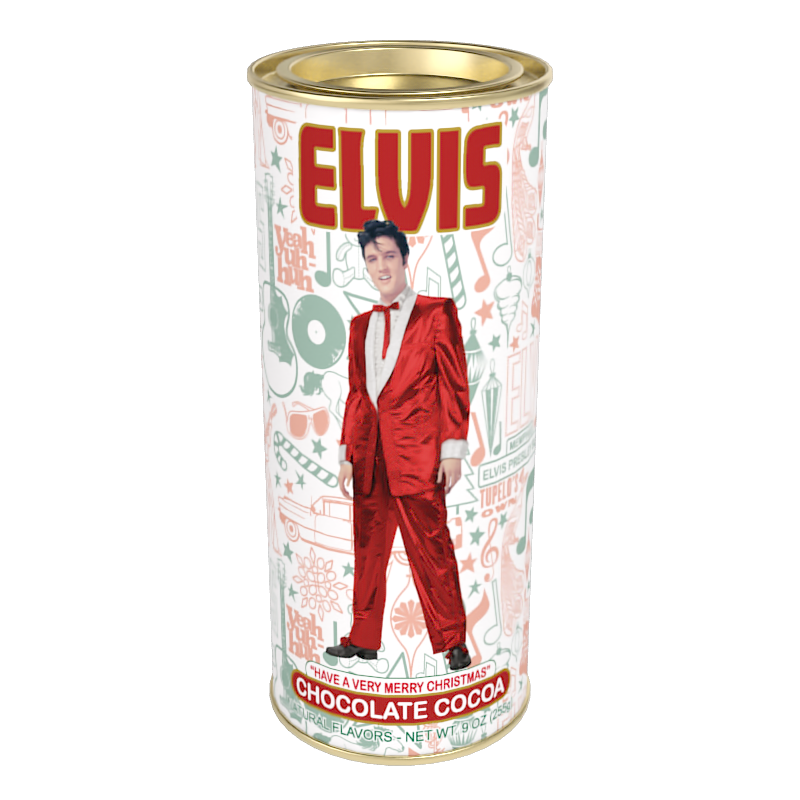 Elvis™ Merry Christmas Holiday Chocolate Cocoa (9oz Round Tin)