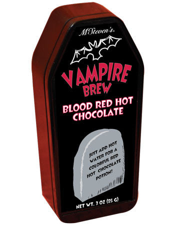 Coffin Tin Colorful Hot Chocolate - McSteven's Vampire Brew Blood Red Hot Chocolate - 3 oz