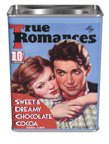 Rectangular Tin Oval Plug TR Cocoa  - True Romance Sweet & Dreamy Chocolate - 8 oz