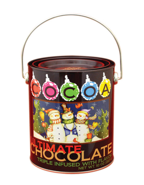 Paint Bucket Tin - McSteven's ® Ultimate Chocolate Holiday Milk Chocolate - 10 oz (CLOSEOUT - BEST BY DEC 2020)