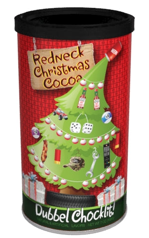 Round Canister Cocoa - McSteven's Redneck Christmas Chocolate - 7 oz