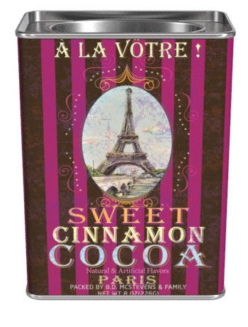 McSteven's © Nostalgic Gourmet A La Votre Sweet Cinnamon Cocoa -8 oz (CLOSEOUT - BEST BY JAN 2022)