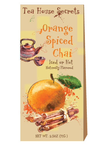 Triangle Gift Box Chai Tea - McSteven's Tea House Secrets Orange Spiced - 2.5 oz
