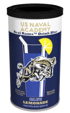College Colors Lemonade 8 oz. round - US Navel Academy Colorful Blue Lemonade