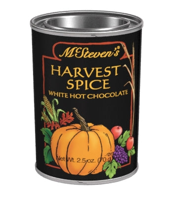 Small Oval Tin Drink Cocoa - McStevens® Harvest Spice White Chocolate - 2.5 oz (CLOSEOUT - BEST BY MARCH 2021)