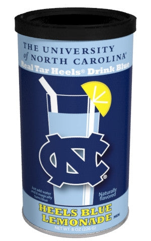 College Colors Lemonade 8 oz. round - University of North Carolina Colorful Blue Lemonade