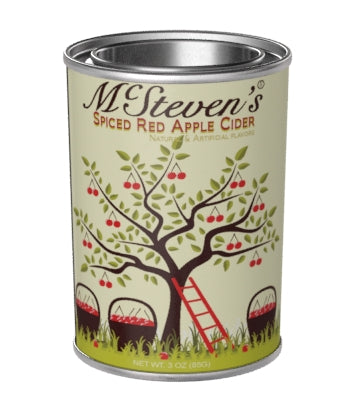 Small Oval Tin Drink Cider - McStevens® Spiced Red Apple Cider - 3 oz