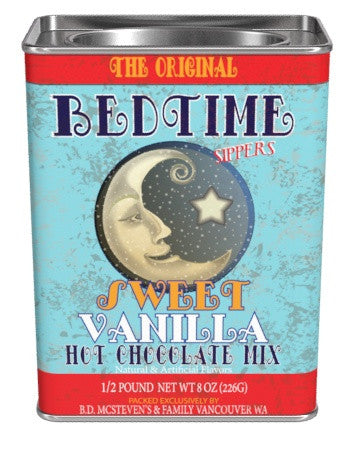 McSteven's Nostalgia Gourmet Bedtime Sippers Vanilla Cocoa (8oz Rectangle Tin)