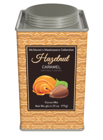 Masterpiece Collection Hazelnut Caramel Chocolate Cocoa (6.25oz Square Tin)